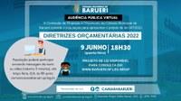 Audiência pública apresenta diretrizes orçamentárias para 2022