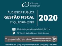 Audiência pública avalia despesas e investimentos do Poder Executivo entre maio e agosto