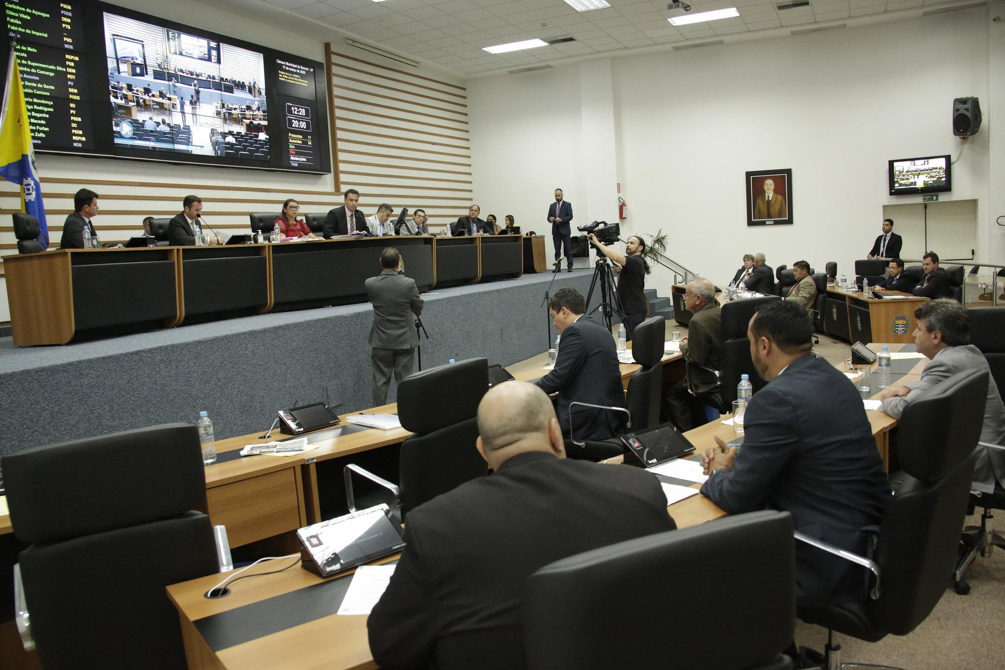 Câmara de Barueri terá sessão no dia 7 de abril