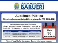 Câmara promove audiência pública sobre Diretrizes Orçamentárias