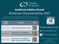 Comissão de Finanças promove audiência pública sobre Diretrizes Orçamentárias