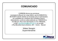 Comunicado IPRESB