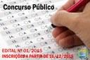 CONCURSO PÚBLICO - EDITAL Nº 01/2015