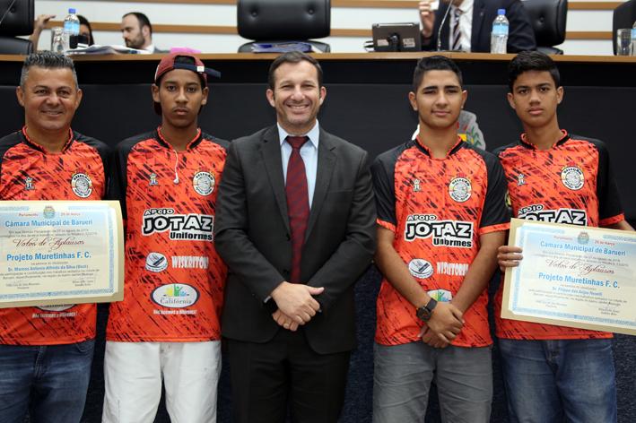 Câmara destaca projeto social Muretinhas FC