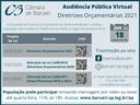 População pode participar de audiência pública por vídeo ou texto